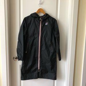 K-Way Long Black Rain Jacket